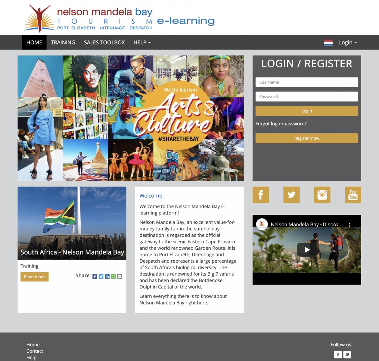 Nelson Mandela Bay E-learning platform Port Elizabeth destination training