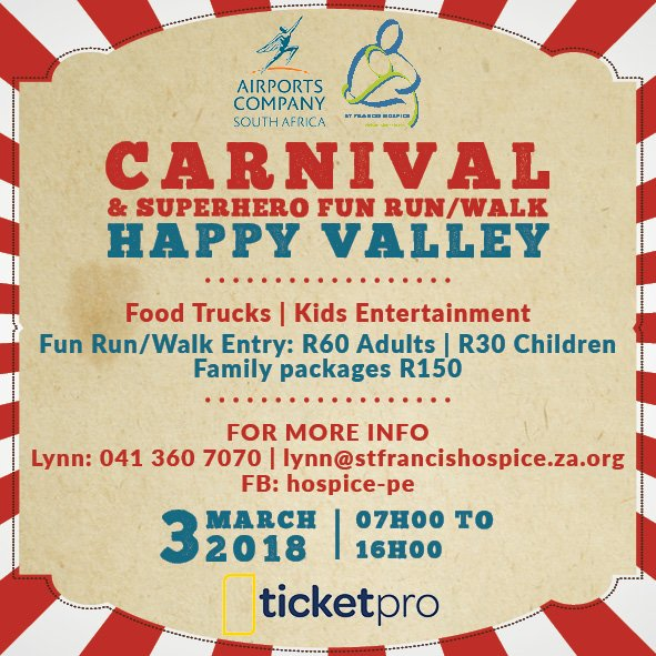 A Family Package to the St Francis Hospice Carnival & Superhero Fun Run/ Walk - 3rd March 2018