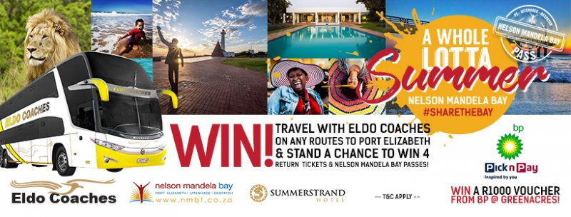 Travel with Eldo Coaches on any routes to Port Elizabeth & stand a chance to win