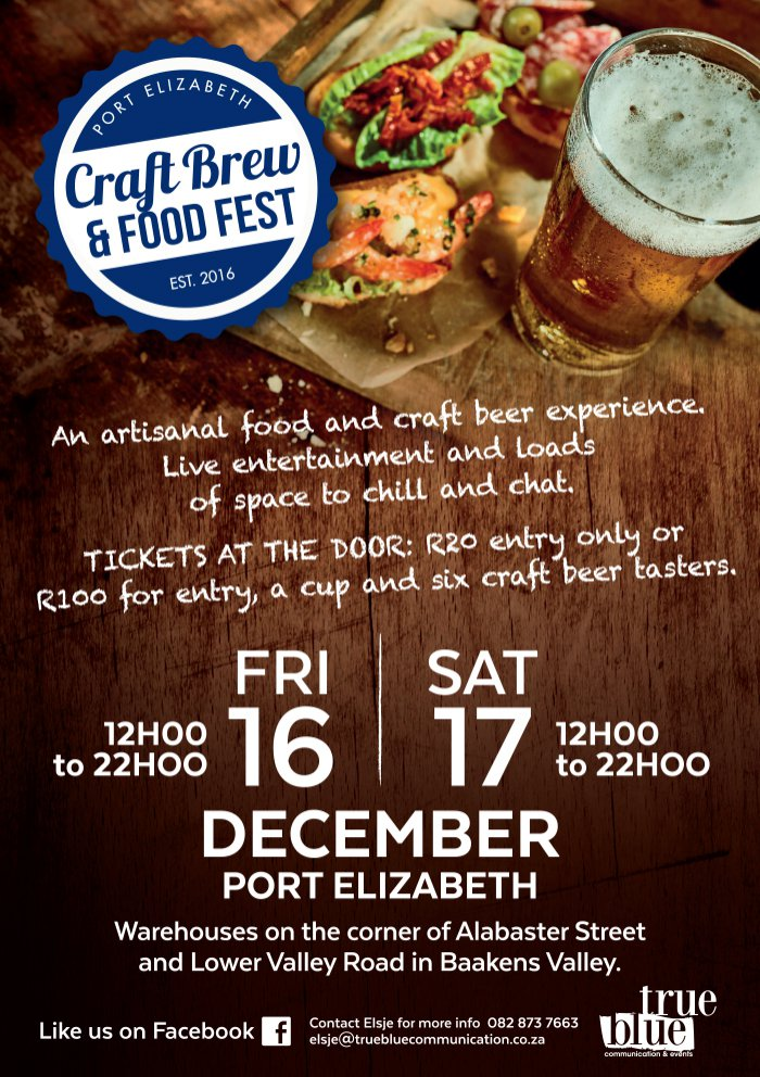 Win tickets to the next Craft Brew & Food Fest 16 & 17 Dec