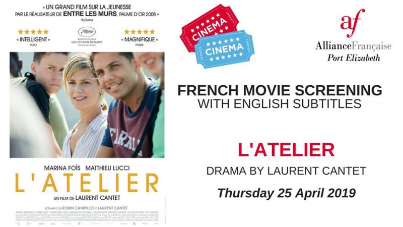 French Movie Screening - L'atelier