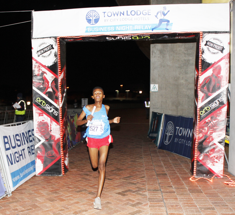 Gamble Pharmacy Win First Town Lodge Business Night Relay Event