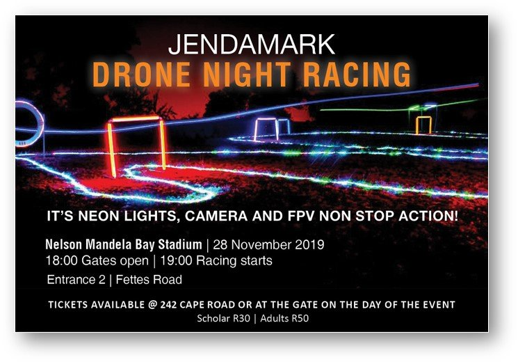 Jendamark Drone Night Racing