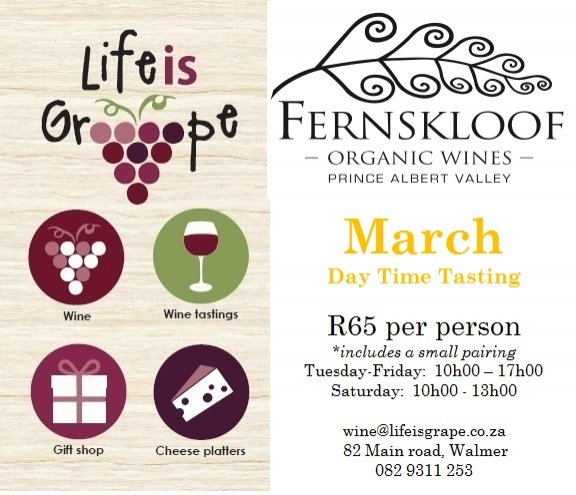 March Day Time Tasting with Fernskloof