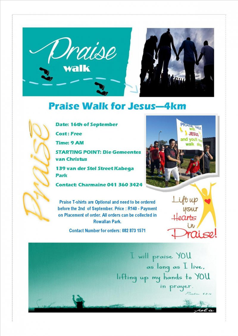 Praise and Prayer walk